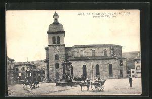 AK Le Chambon-Feugerolles, Place de l`Eglise