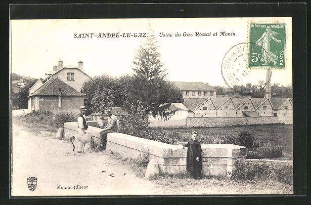 AK Saint-André-le-Gaz, Usine du Gaz Rossat et Monin