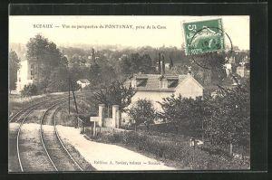 AK Sceaux, Blick auf den Bahnhof, la Gare