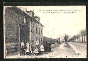 AK Le Bourget, La Ferme ayant subi le premier choc de l`Armée Allemande en 1870 (Guerre de 1870-71)