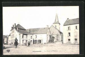 AK Eygurande, La Place et l`Eglise