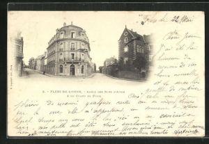 AK Flers-de-L'Orne, Angle des Rues d'Athis & du Champ de Foire