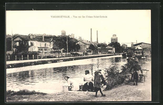 AK Varangeville, Vue sur les Usines Saint-Gobain