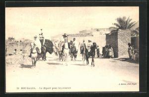AK Bou-Saada, Le depart pour les courses