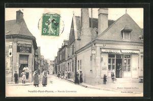 AK Neuillé-Pont-Pierre, Cafe-Restaurant Moulin, Rue du Commerce
