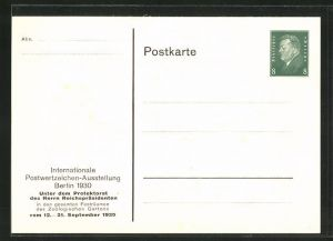AK Berlin, Intern. Postwertzeichen-Ausstellung 1930, Ganzsache PP113 C10 /05