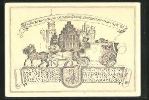 AK Dortmund, Postwertzeichen-Ausstellung 1926, Postkutsche, Ganzsache PP81 C16