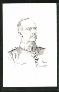 Künstler-AK Generalleutnant Erich Ludendorff