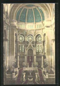 AK Paris, Synagoge / Synagogue de la Rue de la Victoire, Innenansicht