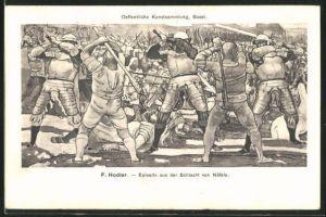 Künstler-AK Ferdinand Hodler: Episode aus der Schlacht von Näfels