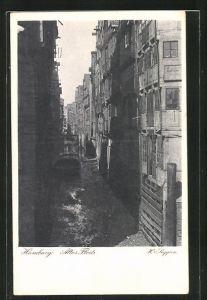 AK Hamburg, Postwertzeichen-Ausstellung 1925, Fleet in der Speicherstadt, Ganzsache PP 77 C2