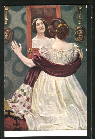 hübsche mädchen 14 spiegelbild