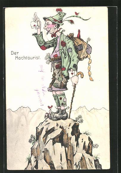 Künstler-AK Willi Scheuermann: Der Hochtourist
