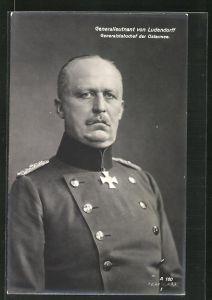 AK Generalleutnant Erich Ludendorff in Uniform