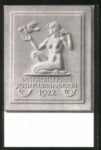 AK Berlin, Postwertzeichen-Ausstellung 1922, Ganzsache
