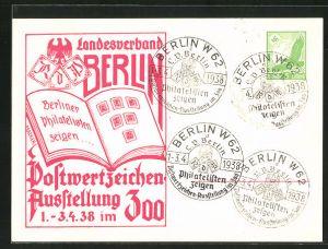 AK Berlin, Postwertzeichen-Ausstellung 1938 im Zoo, Ganzsache