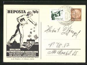 AK Berliner Postwertzeichen-Ausstellung 1935, Ganzsache