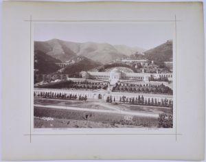 Fotografie A. Noack Genova, Ansicht Genua / Genova, Camposanto, Rückseitig Palazzo Doria, Grossformat 27 x 21cm