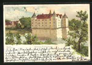 Künstler-AK Carl Biese: Schloss Glücksburg