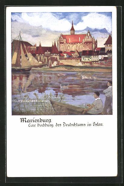 Künstler-AK Otto Amtsberg: Marienburg, Hochburg des Deutschtums im Osten