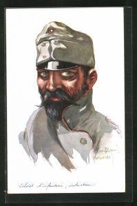 Künstler-AK Em. Dupuis: Soldat in Uniform