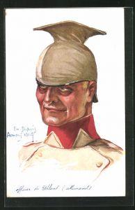 Künstler-AK Em. Dupuis: Soldat mit Pickelhaube