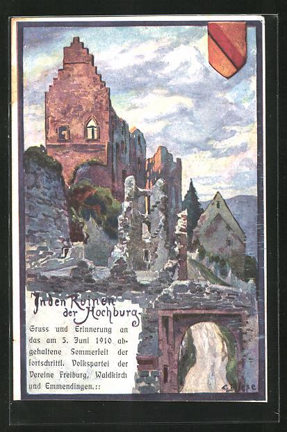 Künstler-AK Carl Biese: In der Ruine der Hochburg
