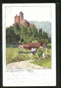 Künstler-AK Carl Biese: Der Berwartstein in der Pfalz