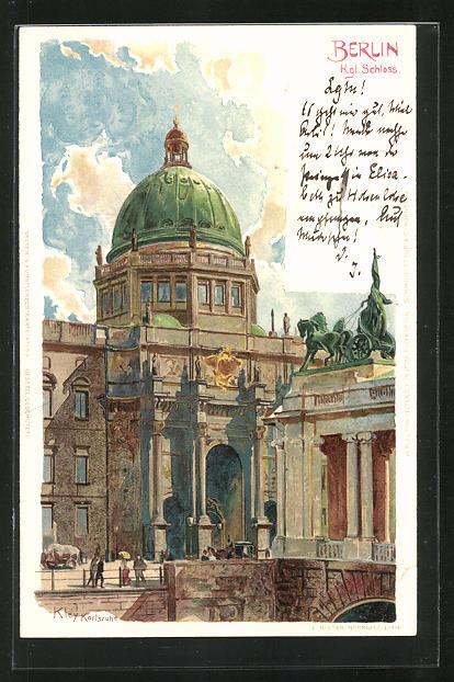 Künstler-AK Heinrich Kley: Berlin, Kgl. Schloss
