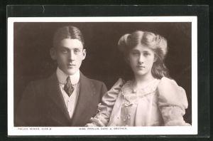 AK Schauspielerin Phyllis Dare und ihr Bruder