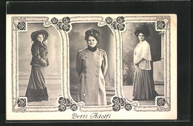 AK Betti Adolfi in verschiedenen Portraits, Variete