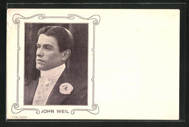 AK John Weil im Portrait, Variete