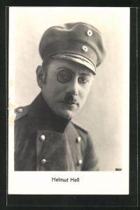 AK Helmut Hell, Portrait des Artisten als preussischer Offizier