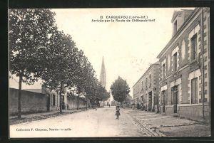 AK Carquefou, Arrivee par la Route de Chateaubriant