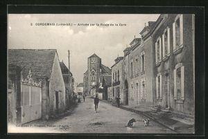 AK Cordemais, Arrivee par la Route de la Gare
