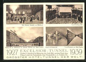 AK Berlin-Kreuzberg, Hotel Excelsior-Tunnel, am Anhalter Bahnhof