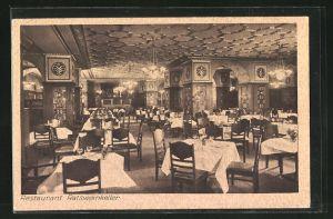 AK Berlin-Schöneberg, Restaurant Ratskeller, Innenansicht