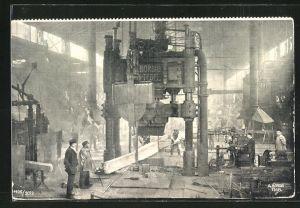 AK Berlin-Tegel, Arbeiter in der Fabrikhalle