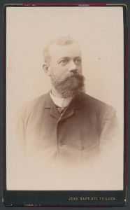 Fotografie Jean Baptiste Feilner, Bremen, Portrait Herr mit Vollbart