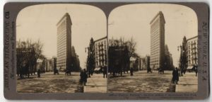 Stereo-Fotografie American Stereoscopic Co., New York, Ansicht New York City, NY, Flat Iron Building