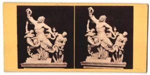 Stereo-Fotografie Lakoon-Figurengruppe im Vatikanmuseum