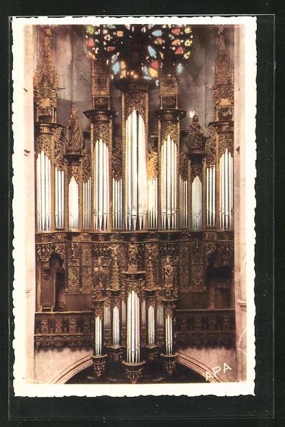 AK Rodez, Interieur de la Cathedrale, Les Grandes Orgues