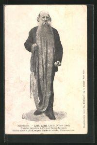 AK Exzentriker Louis Coulon, Mann mit dem längsten Bart der Welt