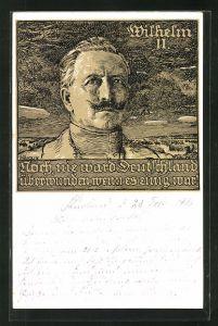 Künstler-AK Bruno Heroux: Portrait Kaiser Wilhelm II.
