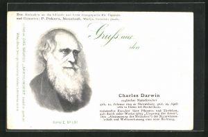 AK Charles Darwin, engl. Naturforscher