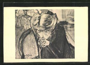 Künstler-AK Jan Toorop: Het gebed, Gebet