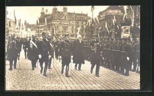 AK Kaiser Wilhelm II. und Präsident Forrer in Zürich