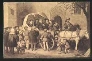 AK Wittenberg, Luthers Abreise zum Reichstage in Worms 1521