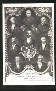 AK Les Presidents de la Republique Francaise depuis 1870