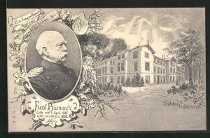 AK Schloss Friedrichsruh, Fürst Bismarck, In treuen Diensten Kaiser Wilhelm I., Schloss